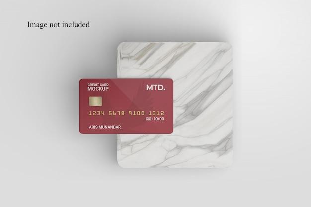 Mockup di carta di credito realistico