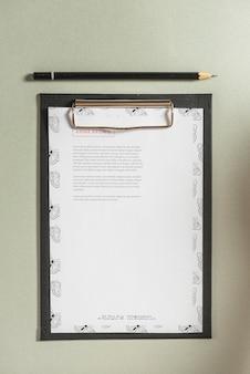Mockup di carta intestata negli appunti