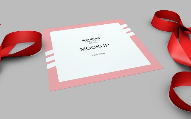 Mockup di carta invito bellissimo weding