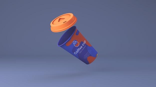 Mockup di carta tazza di caffè psd