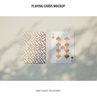 Mockup di carte da gioco