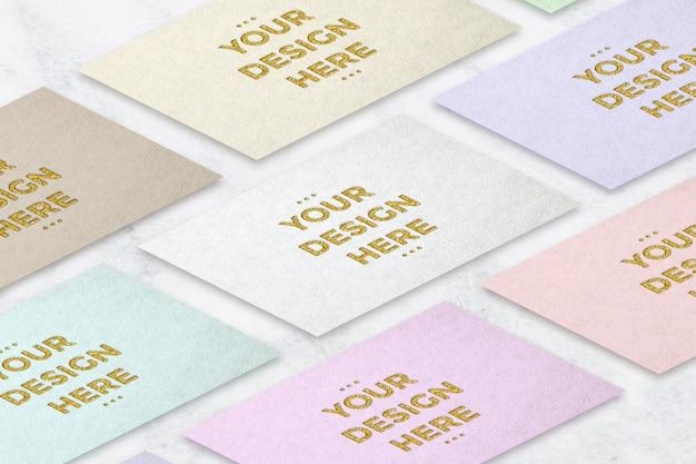 Mockup di carte di lamina d'oro di stampa tipografica