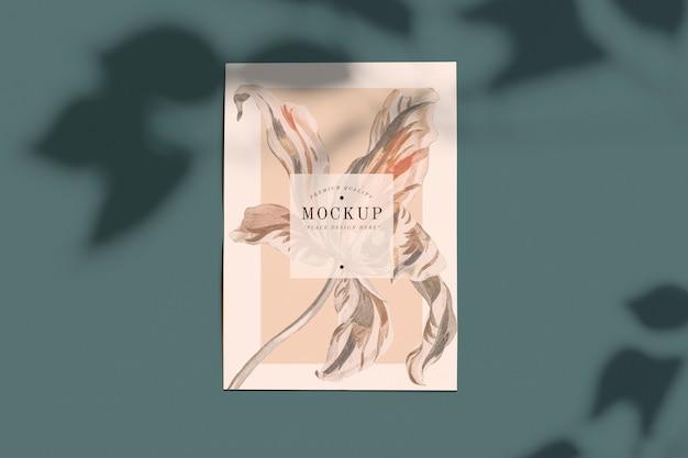 Mockup di carte floreali di qualità premium
