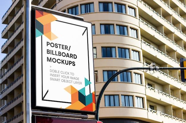 Mockup di cartellone urbano