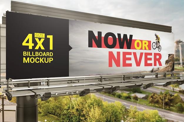 Mockup di cartelloni pubblicitari all'aperto
