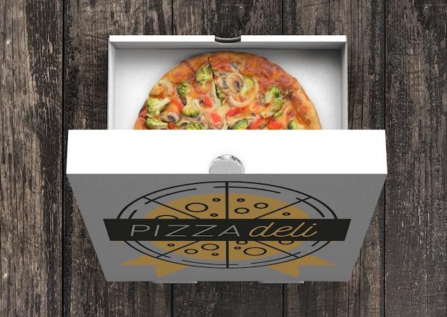 Mockup di cartone per pizza