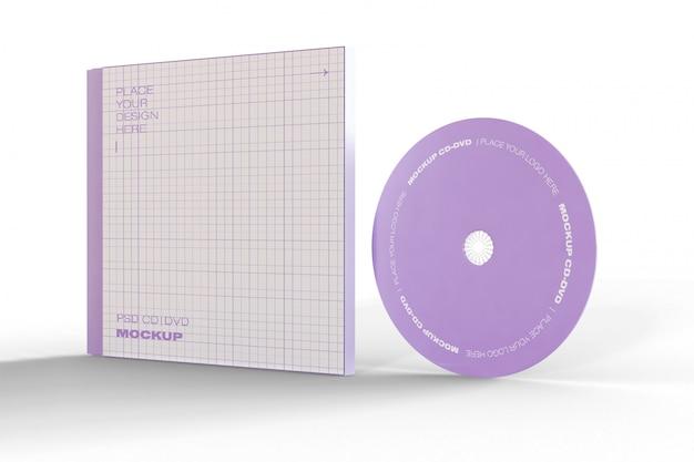 Mockup di cd e case