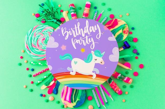 Mockup di compleanno creativo