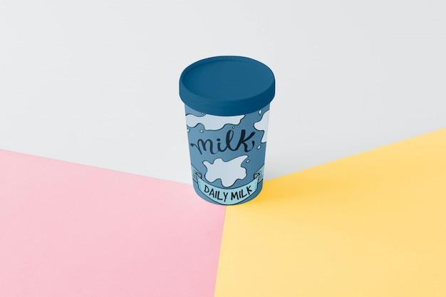 Mockup di confezionamento del latte