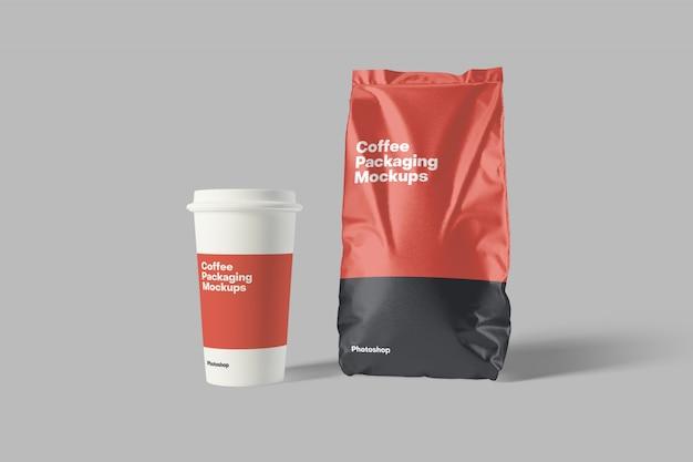 Mockup di confezionamento di caffè