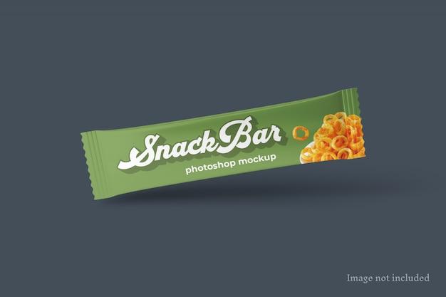 Mockup di confezioni per snack bar