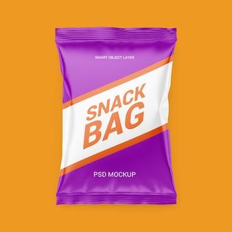 Mockup di confezioni snack