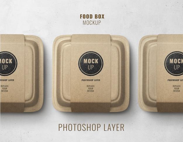 Mockup di consegna scatola fast food realistico
