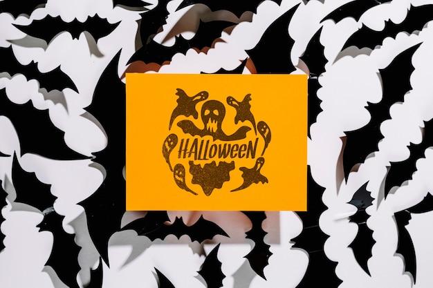 Mockup di copertina arancione di halloween