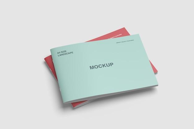 Mockup di copertina con design paesaggistico a4