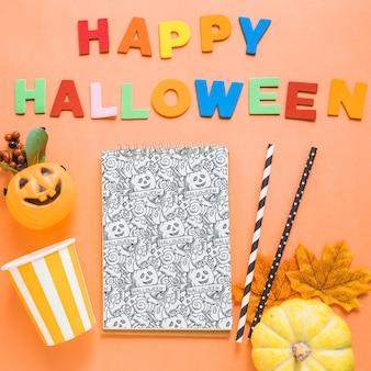 Mockup di copertina del libro di halloween