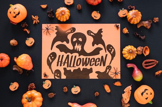 Mockup di copertina di carta con il concetto di halloween