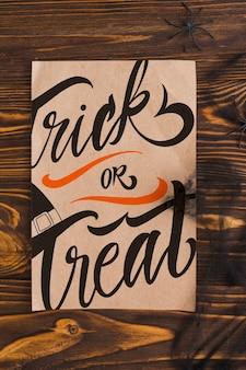 Mockup di copertina di cartone di halloween