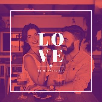 Mockup di copertina di san valentino con l'immagine
