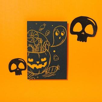 Mockup di copertina nera di halloween