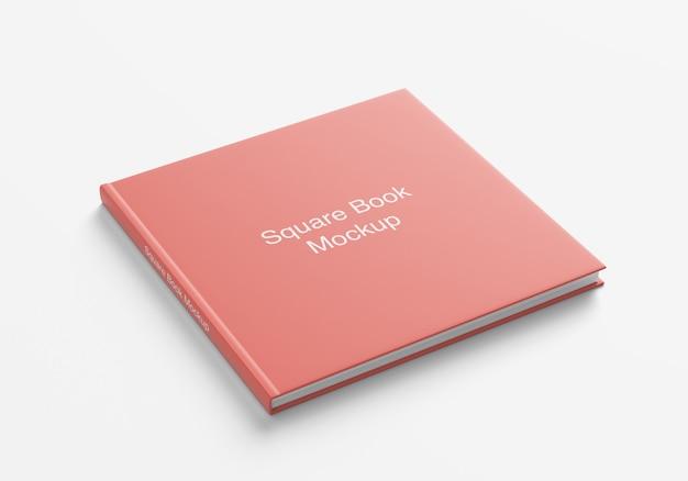 Mockup di copertina quadrata di libro o rivista