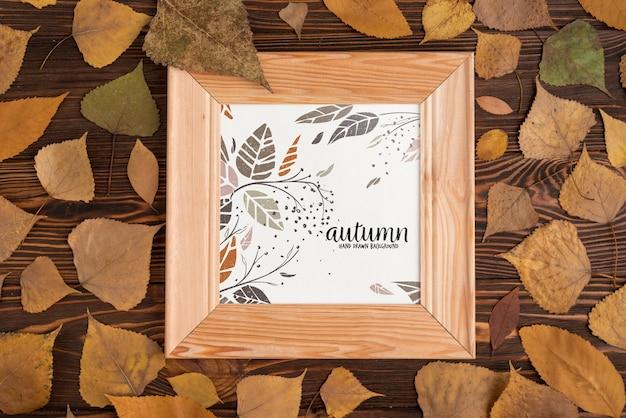 Mockup di cornice in legno di halloween