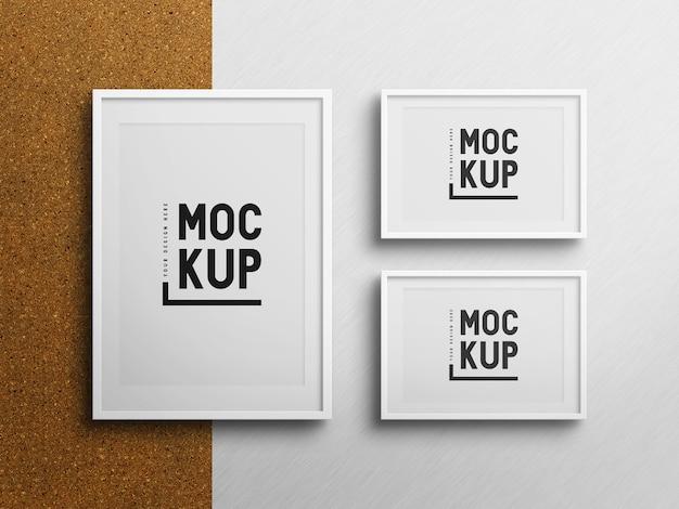 Mockup di cornice per foto minimalista