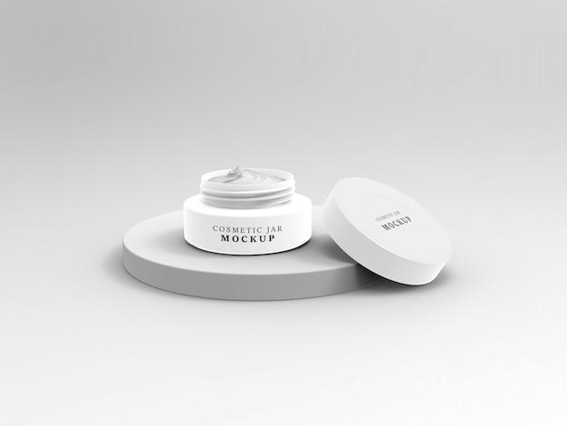 Mockup di crema cosmetica