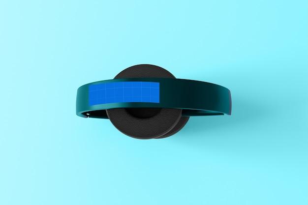 Mockup di cuffie blu