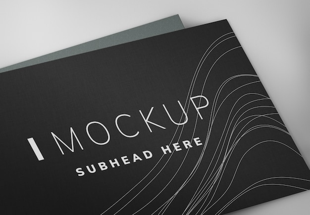 Mockup di design biglietto da visita nero