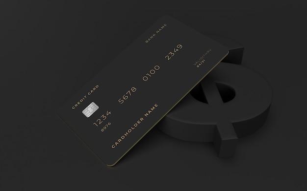 Mockup di design della carta di credito