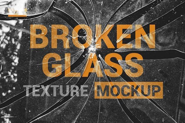Mockup di effetti di vetro brocken