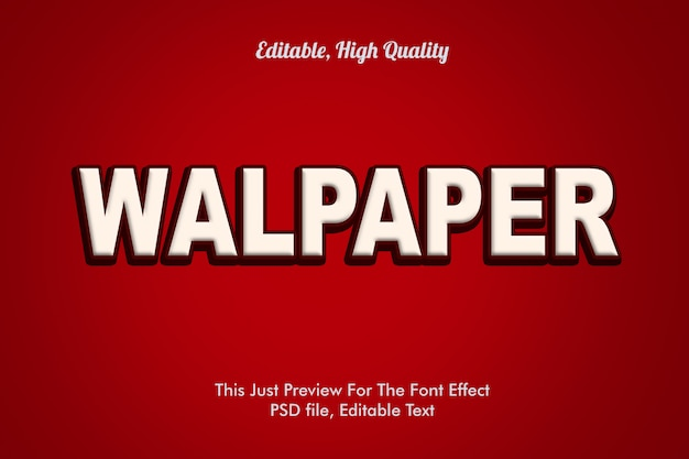 Mockup di effetto carattere walpaper