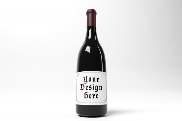 Mockup di etichette di bottiglia di vino