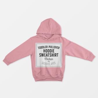 Mockup di felpa con cappuccio pullover bambino