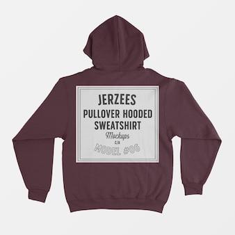Mockup di felpa con cappuccio pullover jerzees