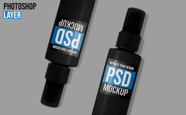 Mockup di flaconi spray