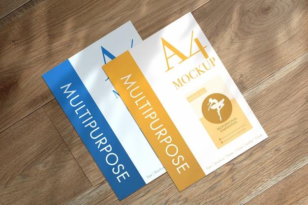 Mockup di fogli a4 multiuso