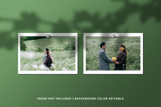 Mockup di foto con cornice di carta paesaggio realistico