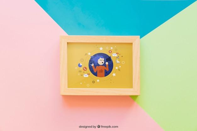 Mockup di frame creativo