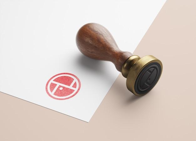Mockup di francobolli in legno