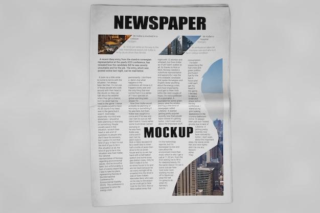 Mockup di giornale