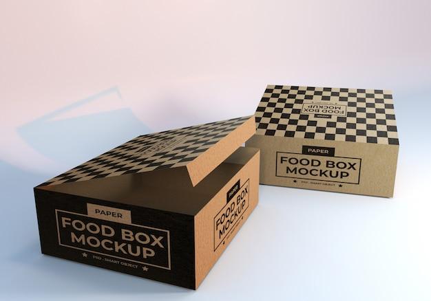 Mockup di imballaggi alimentari di carta