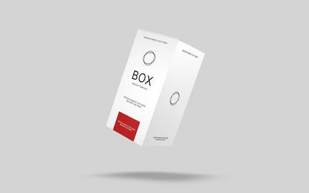 Mockup di imballaggio semplice scatola 3d