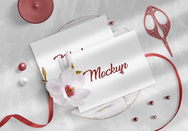 Mockup di invito a nozze