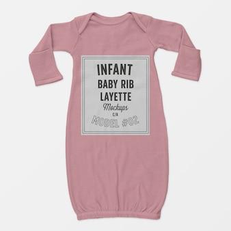 Mockup di layette per neonati a costine 02