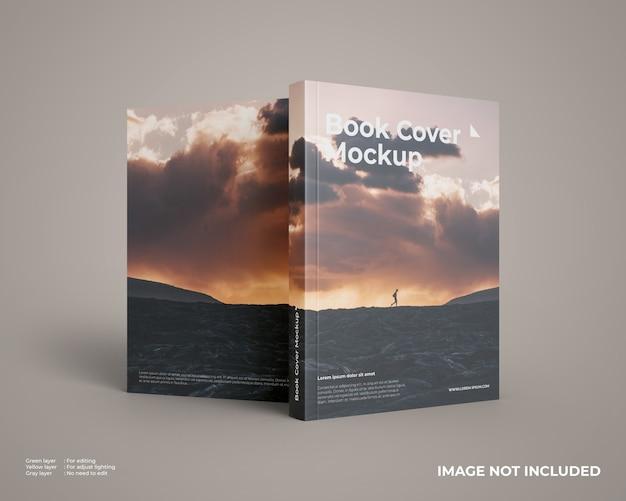 Mockup di libri a copertina morbida fronte e retro