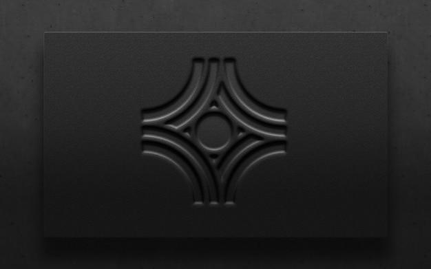 Mockup di lusso moderno logo impresso carta 3d