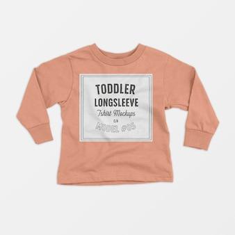 Mockup di maglietta a maniche lunghe per bambino