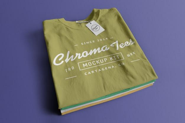Mockup di magliette cromate